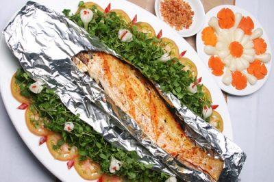 Cá chẽm nướng muối ớt